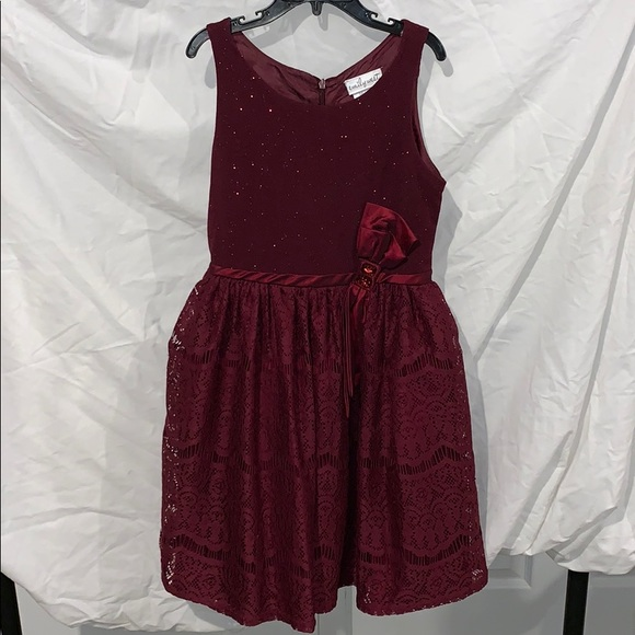 emily west Other - Girls Maroon Holiday Dress
